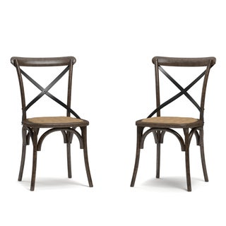 Handy Living Fairbanks Walnut Dining Chairs (Set of 2)
