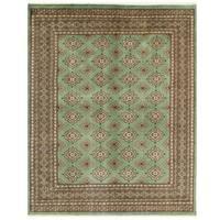 Herat Oriental Pakistani Hand-knotted Bokhara Wool Rug (6'8 x 8'3)
