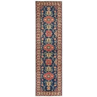 Handmade Vegetable Dye Kazak Wool Runner (Afghanistan) - 2'7 x 9'8