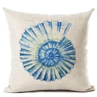 Lillowz Blue Shell Beach Canvas 17 inch Throw Pillow|https://ak1.ostkcdn.com/images/products/15221139/P21696360.jpg?impolicy=medium