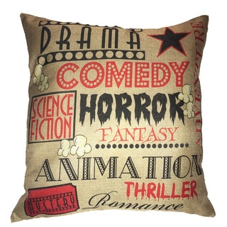 Lillowz Drama Comedy Theater Canvas 17 inch Throw Pillow