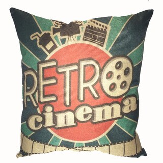 Lillowz Retro Cinema Movie Reel Canvas 17 inch Throw Pillow