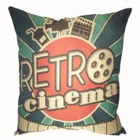 Lillowz Popcorn Theater Canvas Full Sized Throw Pillow 17