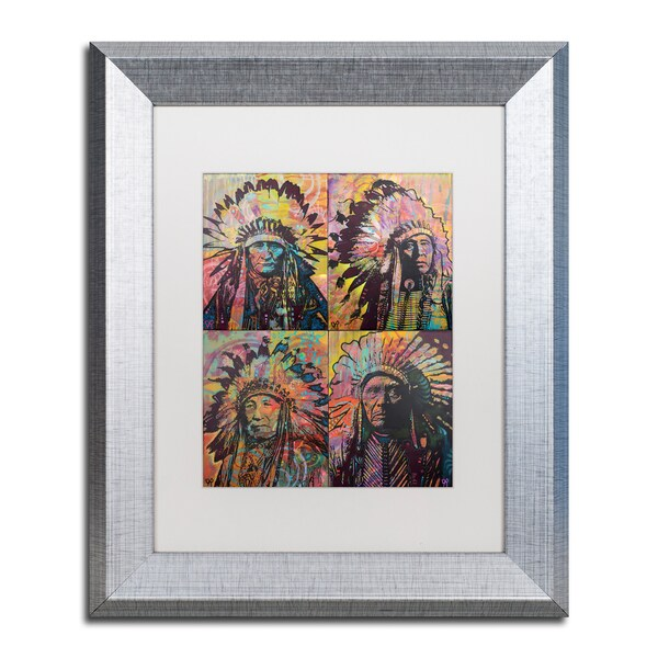 Dean Russo 'Chiefs Quadrant' Matted Framed Art
