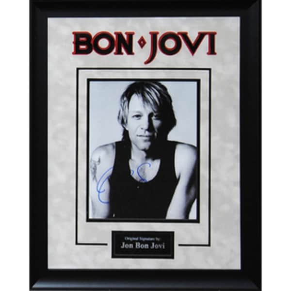 Hand-signed Jon Bon Jovi Photograph