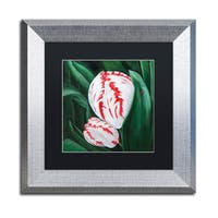 Lily van Bienen 'Mother and Child' Matted Framed Art - Grey