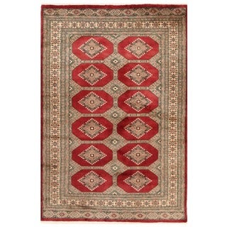 Handmade One-of-a-Kind Bokhara Wool Rug (Pakistan) - 4'1 x 6'1