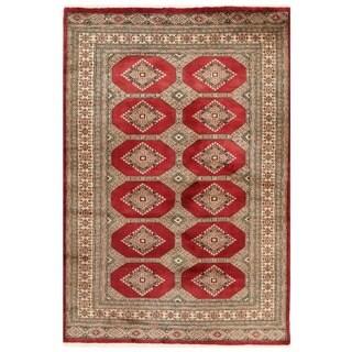 Handmade Herat Oriental Pakistani Bokhara Wool Rug (Pakistan) - 4'1 x 6'1