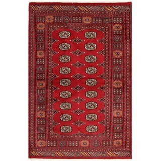 Handmade One-of-a-Kind Bokhara Wool Rug (Pakistan) - 4' x 5'11