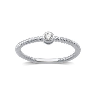 Diamond Accent Stackable Ring in White and Yellow Sterling Silver (I-J, I2-I3)
