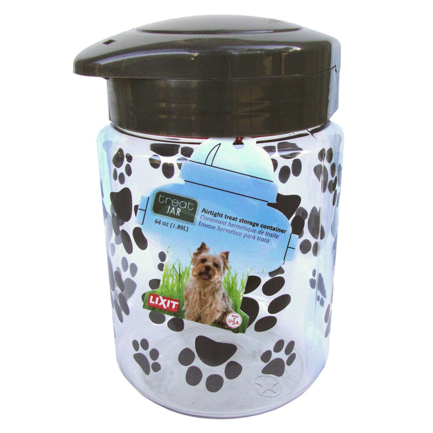 Lixit 128 Oz Dog Treat Jar (Dog Treat Jar Large), Black