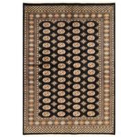 Handmade Herat Oriental Pakistani Bokhara Wool Rug (Pakistan) - 6'6 x 7'10