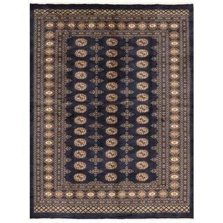 Herat Oriental Pakistani Hand-knotted Bokhara Wool Rug (5'8 x 7'5)