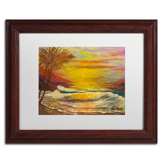 Manor Shadian 'A Tropical Lagoon' Matted Framed Art
