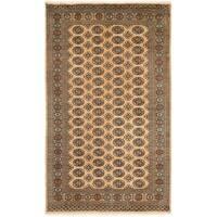 Handmade Herat Oriental Pakistani Bokhara Wool Rug (Pakistan) - 5'1 x 8'4