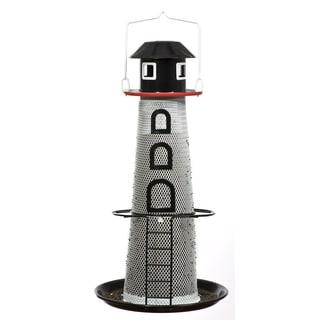 Woodstream 1-1/2 Lb Metal NO/NO Solar Lighthouse Finch Feeder