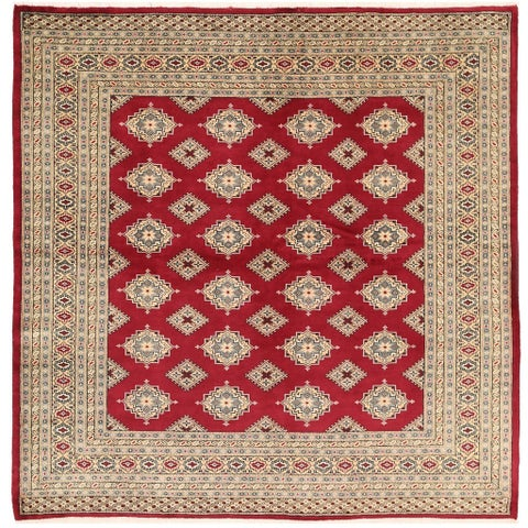 Handmade Herat Oriental Pakistani Bokhara Wool Rug - 6'9 x 6'9 (Pakistan)