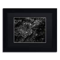 Mathieu Rivrin 'Pearls of Nature' Matted Framed Art - Black