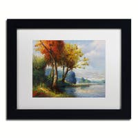 Daniel Moises 'Corot Tribute' Matted Framed Art