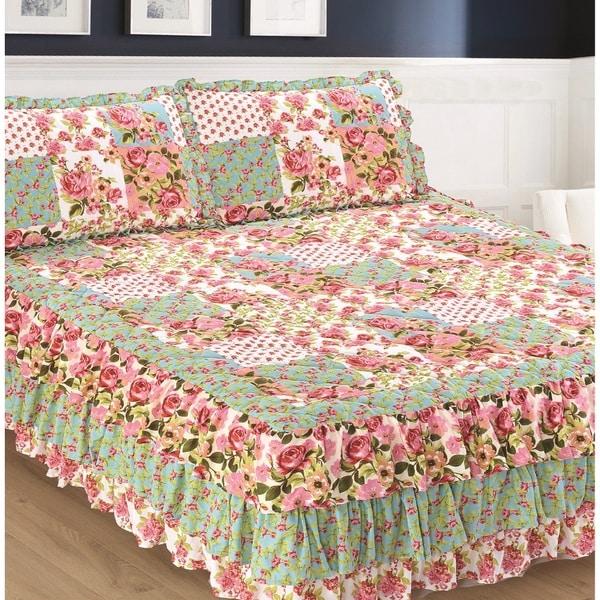 Slumber Shop Allison Triple Ruffle Bedspread and Sham Set