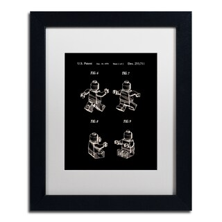 Claire Doherty 'Lego Man Patent 1979 Page 2 Black' Matted Framed Art