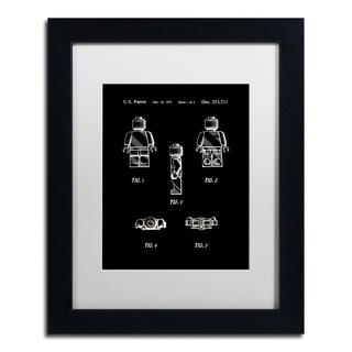 Claire Doherty 'Lego Man Patent 1979 Page 1 Black' Matted Framed Art