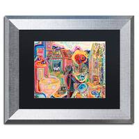 Josh Byer 'The Cow Sees Everything' Matted Framed Art