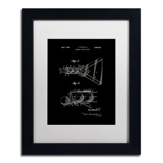 Claire Doherty 'Practice Device Patent Part 2 Black' Matted Framed Art