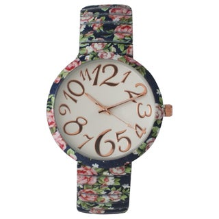 Olivia Pratt Floral Stretchband Whimsical Numbers Watch One Size (More options available)