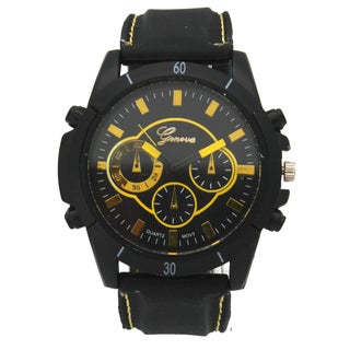 Olivia Pratt Men's Faux Chronograph Silicone Watch One Size