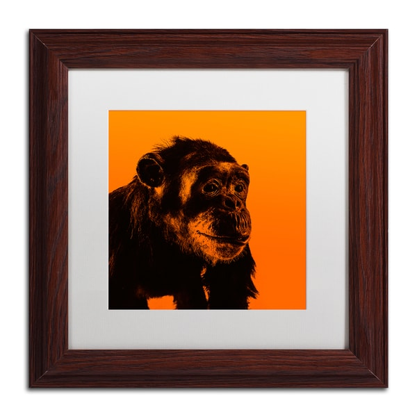 Claire Doherty 'Chimp No 3' Matted Framed Art - Beige