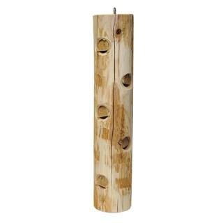 """Stovall 22"""" White Cedar Post Log Feeder For Suet"""