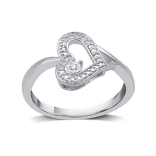 Diamond Accent Fashion Heart Ring in Sterling Silver (I-J, I2-I3) - White I-J|https://ak1.ostkcdn.com/images/products/15223003/P21697589.jpg?impolicy=medium