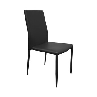 Best Master Furniture Faux Leather Dining Chairs (Set of 4)