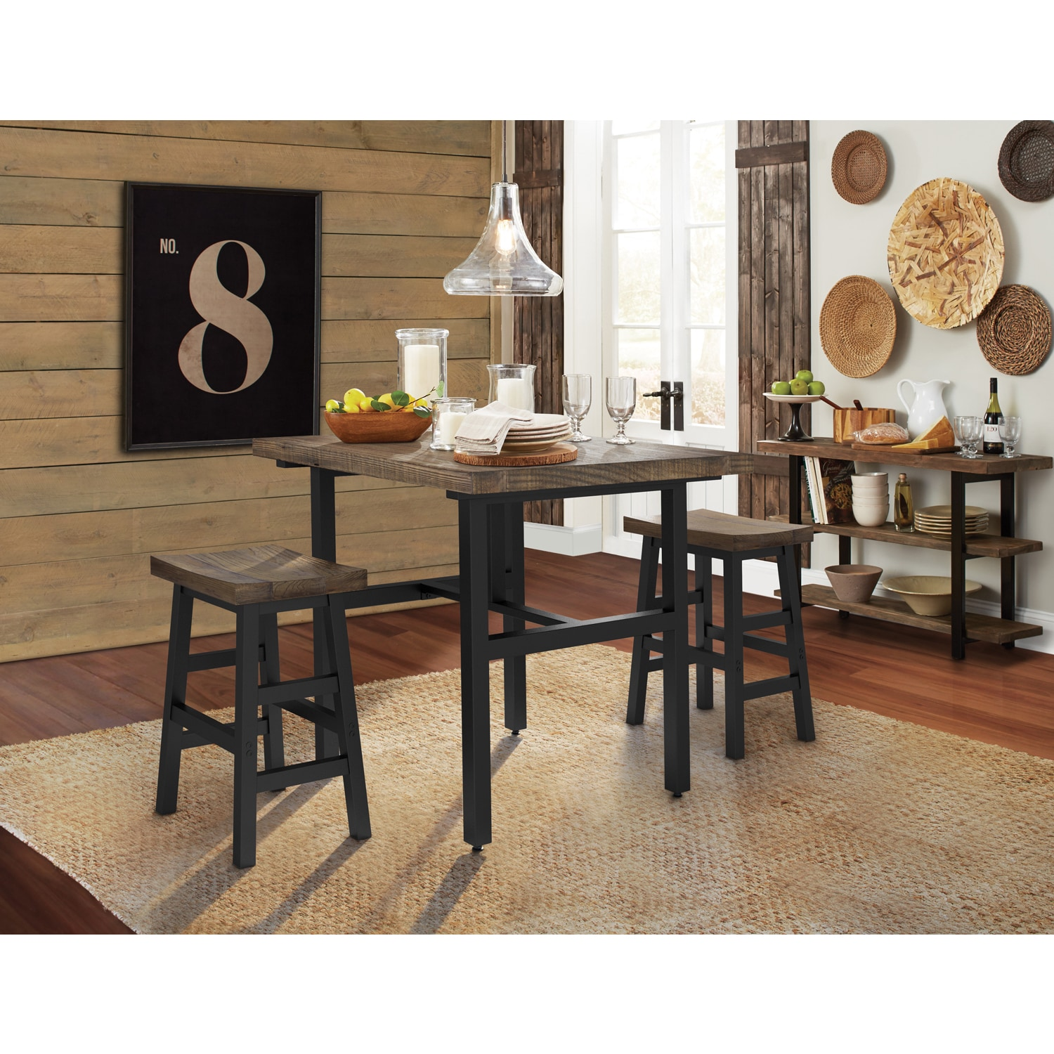 Shop The Gray Barn Michaelis Reclaimed Wood Counter Height Dining