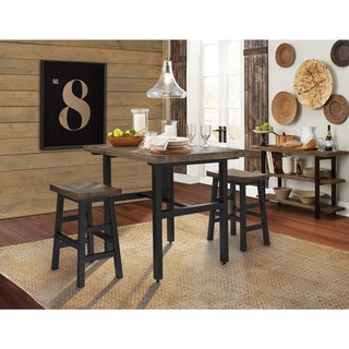 pomona reclaimed wood counter height dining table
