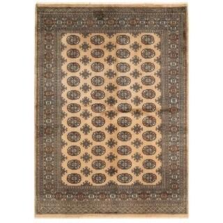 Handmade Herat Oriental Pakistani Bokhara Wool Rug (Pakistan) - 5'3 x 7'3