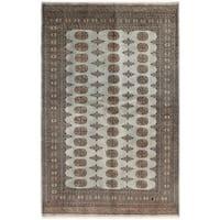 Handmade Herat Oriental Pakistani Bokhara Wool Rug (Pakistan) - 4'11 x 7'8