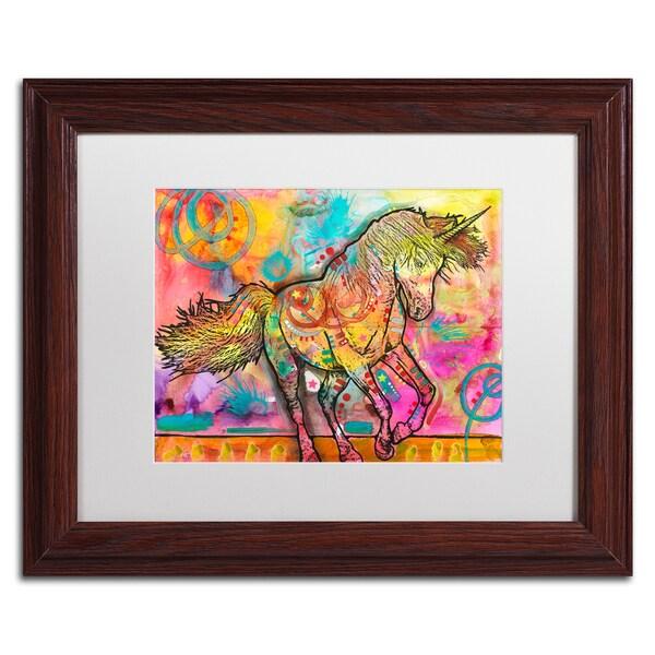 Dean Russo 'Unicorn' Matted Framed Art
