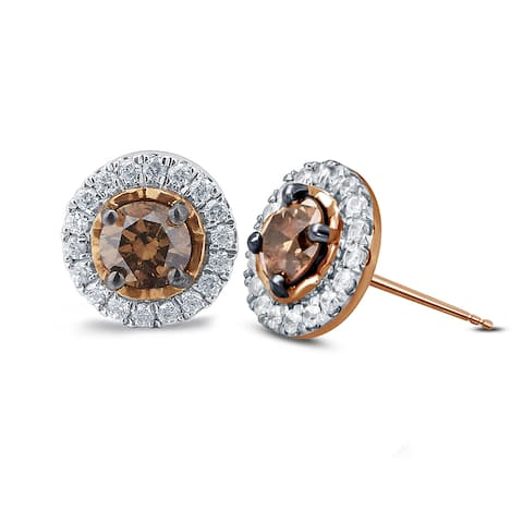 Cali Trove, 1/2ct TDW Diamond Fashion Stud Earring In 10kt Rose Gold