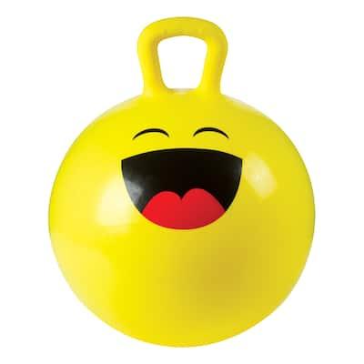 Toysmith 18In Emoji Hoppy Ball with Pump (Assorted Styles) - Yellow