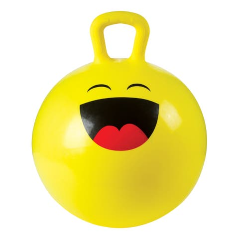 Toysmith 18In Emoji Hoppy Ball With Pump (Assorted Styles) - Yellow