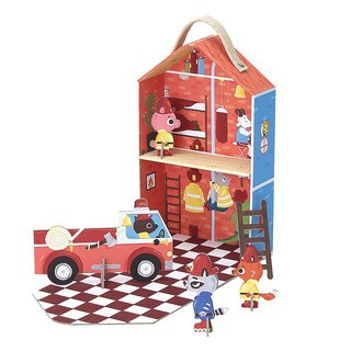 Krooom Captain Furry's Fire Station Playset