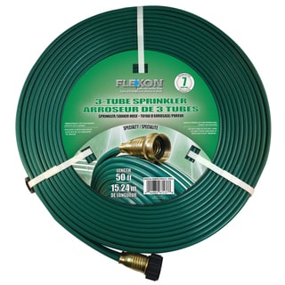 Link to Flexon 50-Foot Three Tube Sprinkler Hose Similar Items in Yard Care Tools
