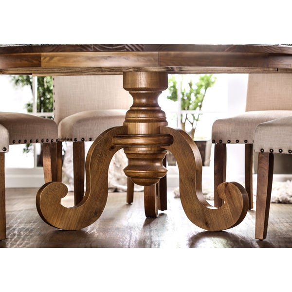 Shop Furniture Of America Gala Country Style Single Pedestal Oak