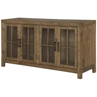 Willoughby Wood Buffet Curio Cabinet in Weathered Barley|https://ak1.ostkcdn.com/images/products/15227353/P21701367.jpg?impolicy=medium