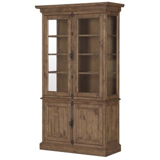 The Gray Barn Combe Magna Wood China Cabinet in Weathered Barley
