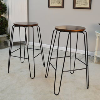 Haim Round Bar Stool Set (2 options available)