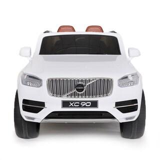 Best Ride-on Cars White Volvo XC90 12V