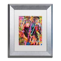 Josh Byer 'Thugs' Matted Framed Art